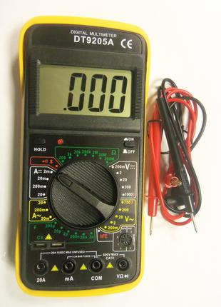 Мультиметр цифровой , тестер DT9205A