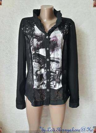 Фирменная bonita нарядная блуза/рубашка с комбинированым соста...
