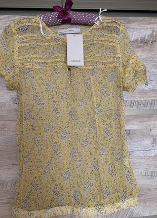 Шелковая блуза zara