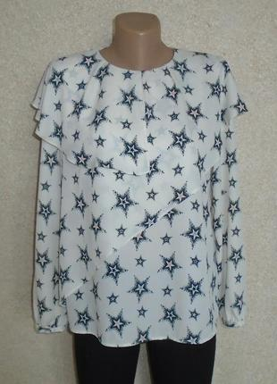 Блуза со звездами/блузка с рюшами/блузка з зірками і воланами