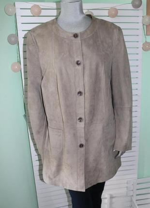 Кожаная замшевая куртка пиджак жакет gerry weber