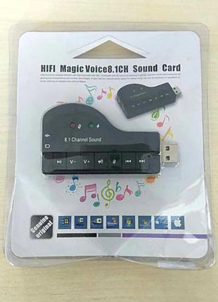 USB звуковая карта Sound card 8.1 внешняя