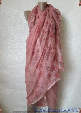 Новое лёгкое парео/платок для купальника/туника в розовом цвет...