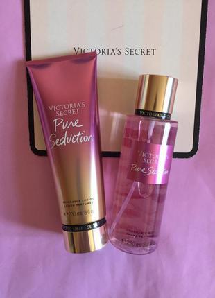 Набор парфюмированный спрей для тела pure seduction victoria's...