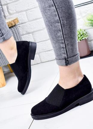 ❤ женские черные туфли эко - замша ❤
