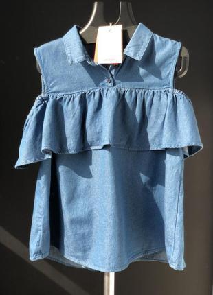 Женская блуза с воланом monki размер l