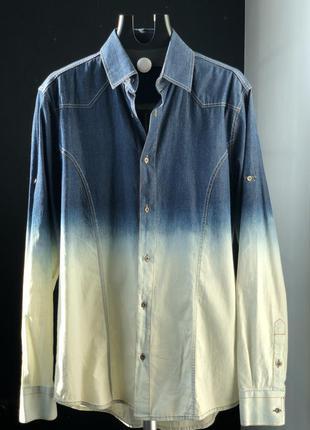 Джинсовая рубашка 38/m/46