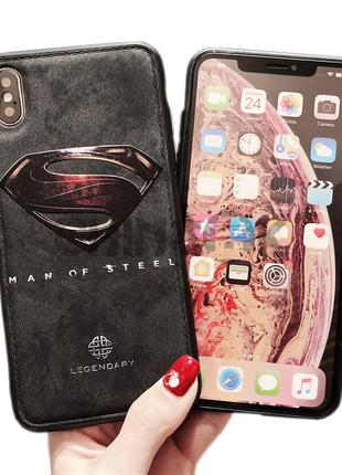 Чехол из кожи для iPhone X/XS/XS MAX- SUPERMAN