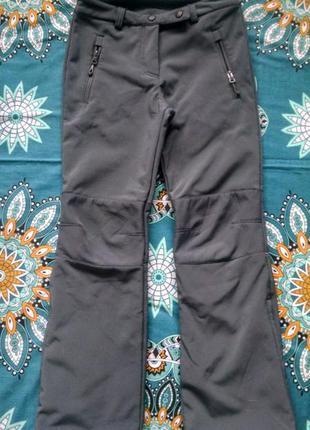 Теплые штаны на флисе ,софтшелл для мальчика 10-12 лет