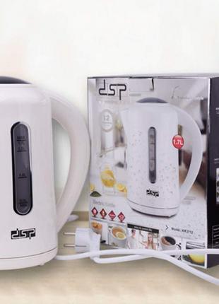 Электрочайник DSP KK 1112 чайник электрический 2200 Вт. 1.7 литра