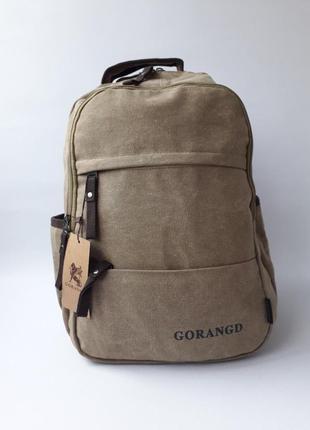 Качественный рюкзак gorangd, брезентовый рюкзак, мужской рюкзак