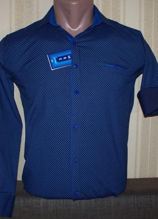 Рубашка приталенная для мальчиков подростков 140,146,152