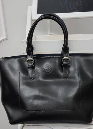 Большая кожаная сумка , кожаные сумки в черном