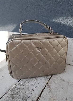 Кожаная сумка , клатч в бронзе , кожаные сумки