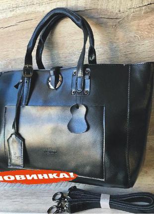 Большая кожаная женская сумка натуральная кожа