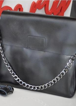Женская стильная кожаная сумка , клатч натуральная кожа