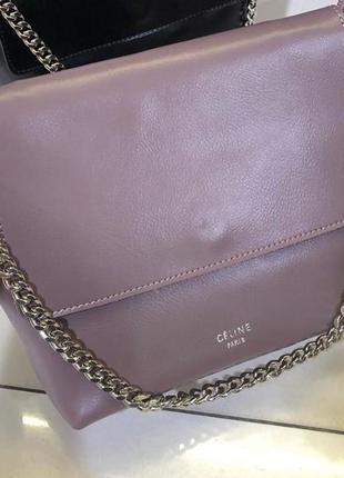 Пудровый женский кожаный клатч сумка в натуральной коже