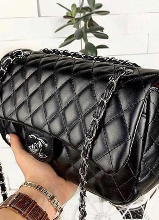 Женская сумка в экокоже , люкс клатч черный