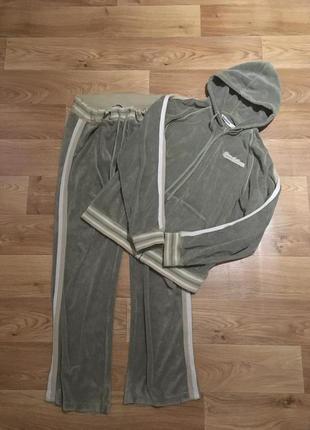 Спортивный велюровый домашний костюм рр l-xl