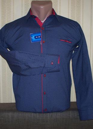 Рубашка трансформер приталенная для мальчиков подростков 140,152