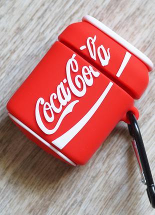 Силиконовый чехол Coca-Cola для Apple Airpods и их аналогов