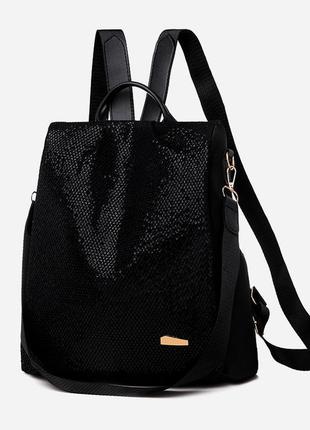 Стильный рюкзак-сумка женский black 1154