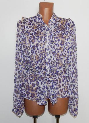 Шифоновая блузка с поясом
