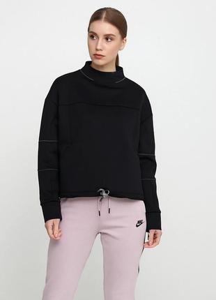 Кофта свитшот свитер худи nike womens dry gym ls crop lead ори...