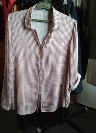 Нежнейшая рубашка туника, вискоза,р. 14-16