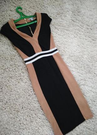 Шикарное силуэтное платье со змейкой на спинке, р. s-m