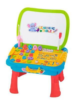Детский игровой столик 0503MR мольберт и рыбалка (Синий)