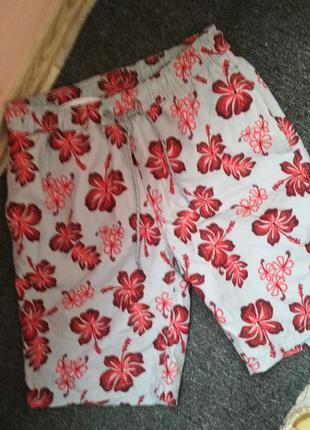 Красивые яркие шорты, пляжные, р 46