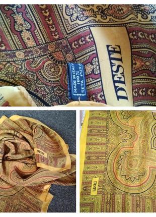 Дизайнерский подписной шелковый платок marina d'este , италия