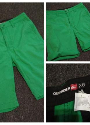 Классные яркие катоновые шорты на подростка, quiksilver, p. 28