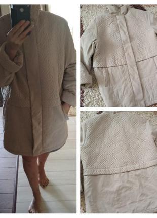 Красивая нежная стеганная курточка, р. 46-48