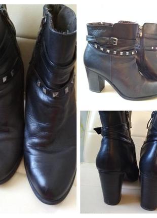 Актуальные ботиночки на каблучке,кожа, tamaris,p. 38