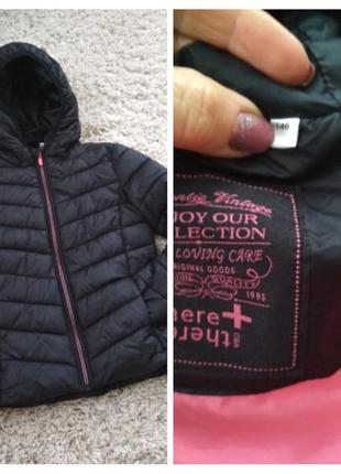 Актуальная стильная куртка для девочки на весну, рост 146.