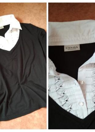 Лёгкий свитерок,блуза 2в 1, вискоза, рукавчики 3/4, canda, p. ...