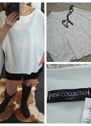 Шикарная стильная блуза оверсайз, new collection италия, р. 12-20