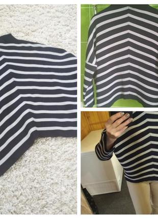Актуальный стильный свитер оверсайз, полосатый, whistles, p. 1...