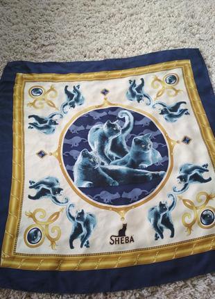 Шикарный шелковый платок,sheba, италия