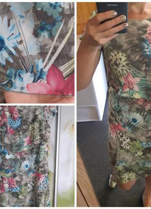Шикарное легкое платье в цветочный принт, betty barclay, p  10_12