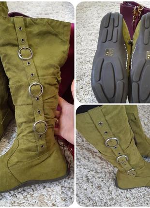 Очень легкие и комфортные сапожки екозамш/текстиль  ,италия, р...
