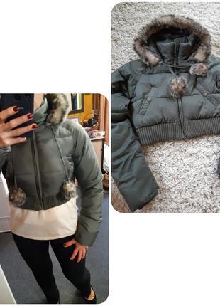Актуальная теплая куртка с капюшоном, gotha love, p. m