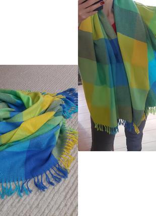 Шикарный яркий, большой и теплый шарф-палантин/клетка, daniel ...