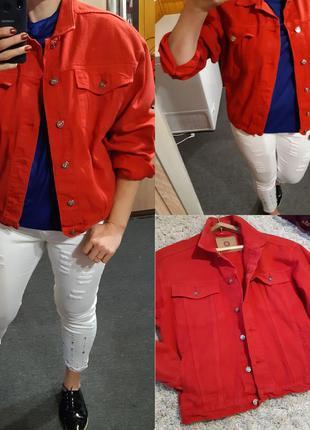 Стильный джинсовый/катоновый обьемный жакет/пиджак  ,union co,...