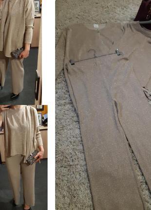 Шикарный нарядный костюм тройка в золоте ,bitte kai rand,  p. xl