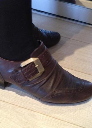 Кожаные  туфли  tamaris  р.38