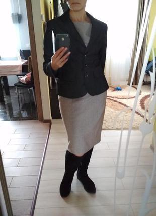 Классический пиджак жакет темно серый,orsay,р.42/44