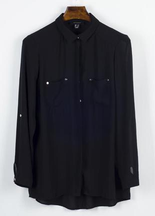 Классическая черная блузка, шифоновая блузка прозрачная, блуза...